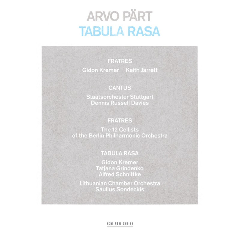 The cover of the CD Tabula rasa