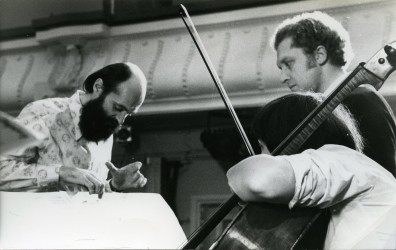 Arvo Pärt with Oleg Kagan and Natalia Gutman